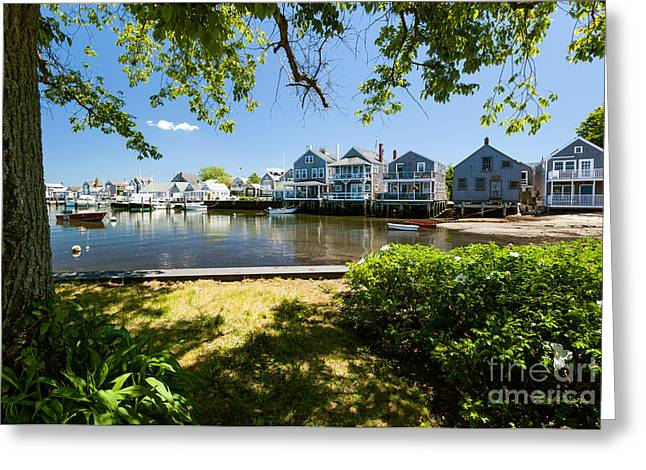 Nantucket Homes By The Sea Greeting Card