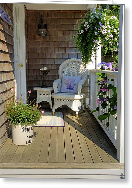 Nantucket Porch Greeting Card