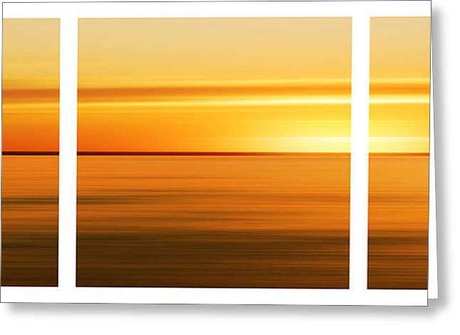 Nantucket Sunset Greeting Card by Sabine Jacobs