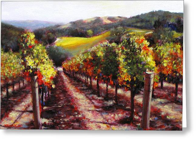 Napa Hill Side Vineyard Greeting Card by Takayuki Harada