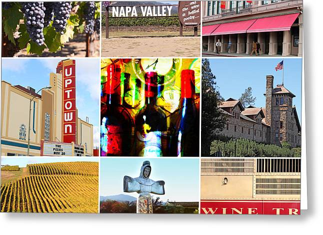 Napa Valley Wine Country 20140905 Greeting Card by Wingsdomain Art and Photography