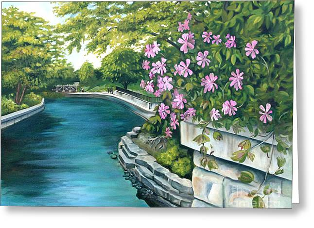 Naperville Riverwalk Greeting Card