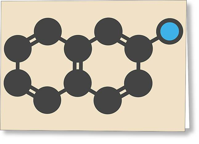 Naphthylamine Carcinogen Molecule Greeting Card