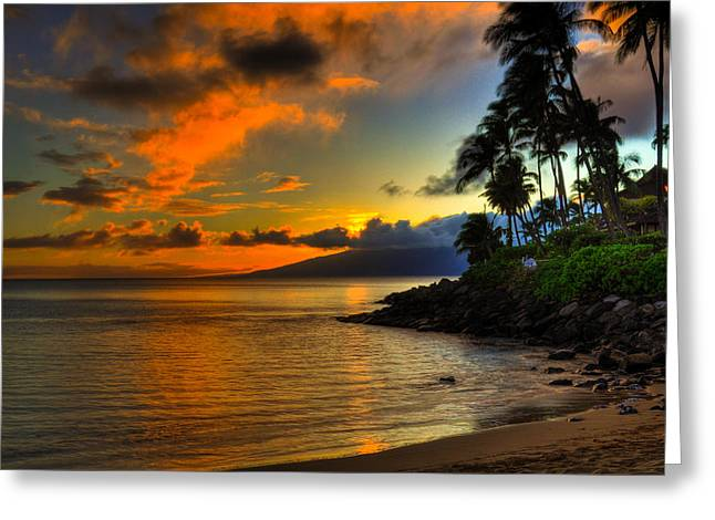 Napili Sunset Greeting Card by Kelly Wade