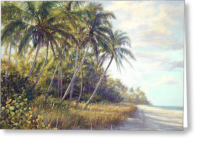Naples Beach Access Greeting Card by Laurie Hein