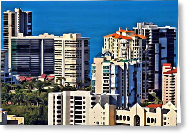 Naples Buildings  Greeting Card
