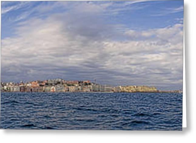 Naples Panorama Greeting Card by Chris Cameron