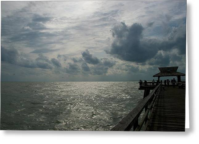 Naples Pier Greeting Card by Joseph Yarbrough