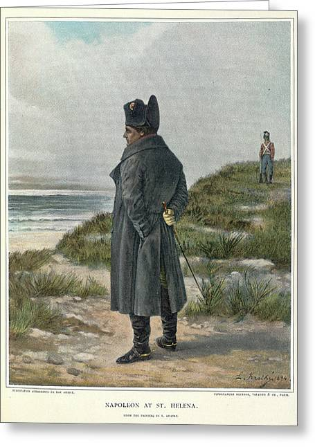 Napoleon At St. Helena Greeting Card by British Library