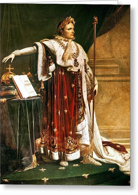 Napoleon Bonaparte In Coronation Robes Greeting Card