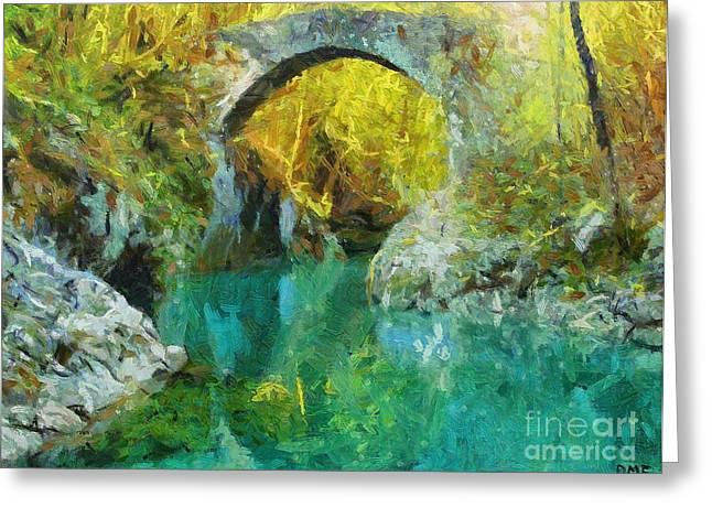 Napoleon Bridge Across The River Nadiza Greeting Card by Dragica  Micki Fortuna