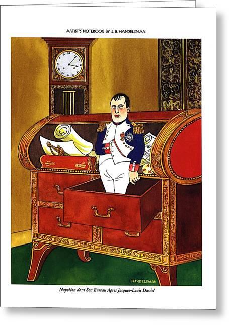 Napoleon Dans Son Bureau Apres Jacques-louis David Greeting Card