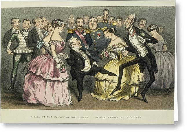 Napoleon IIi At A Ball Greeting Card by Granger