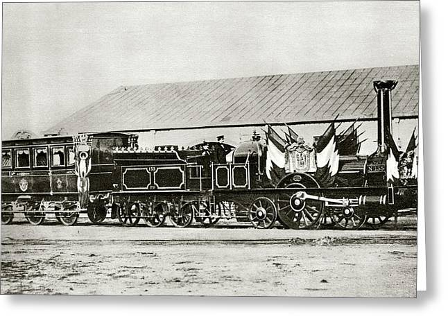 Napoleon IIi's Train Greeting Card by Cci Archives