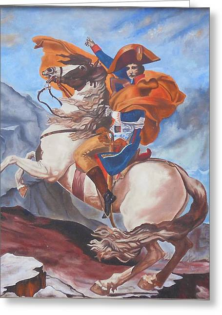 Napoleon On A Horse In The Alps Greeting Card