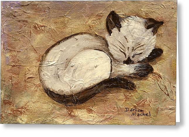 Napping Kitty Greeting Card