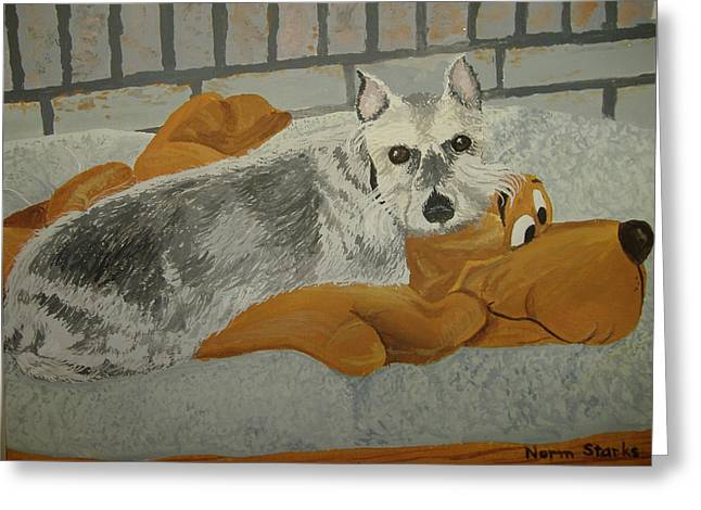 Naptime With My Buddy Greeting Card by Norm Starks