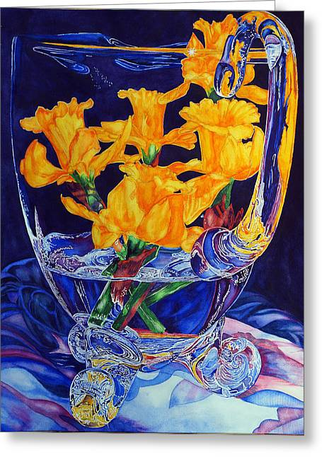 Narcisses Dans Un Vase From Master Class Greeting Card