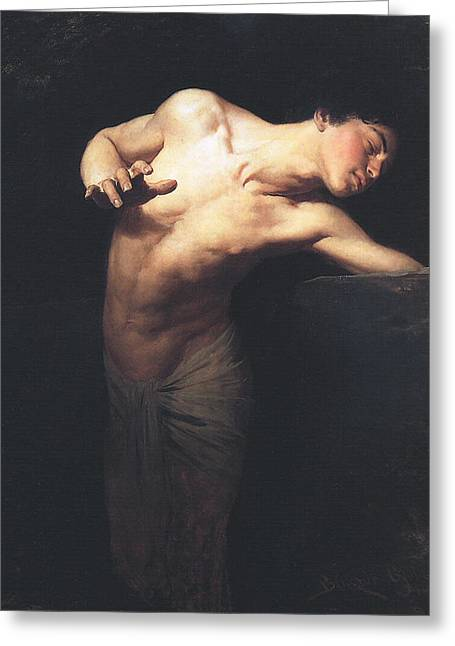 Narcissus  Greeting Card by Gyula Benczur