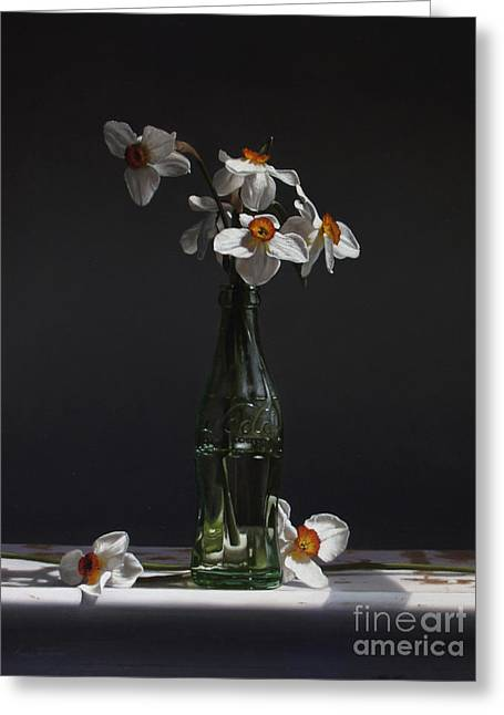 Narcissus Greeting Card by Larry Preston