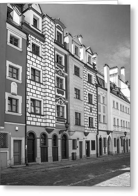 Narrow Houses Greeting Card by Arkady Kunysz