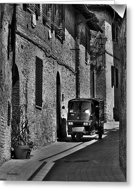 Narrow Italian Street Greeting Card