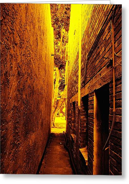 Narrow Way To The Light Greeting Card by Glenn McCarthy Art and Photography