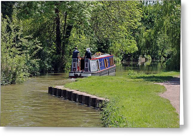 Narrowboat On Oxford Canal Greeting Card