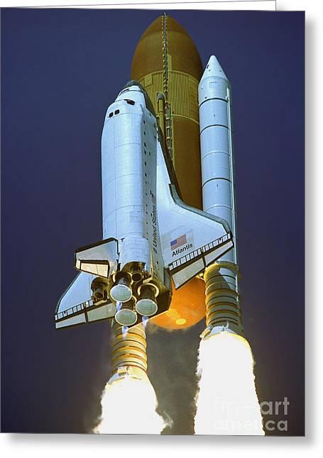 Nasa Atlantis Launch 2 Greeting Card by Rod Jones