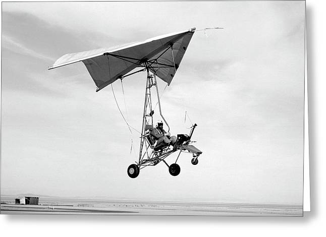 Nasa Paresev Glider Greeting Card
