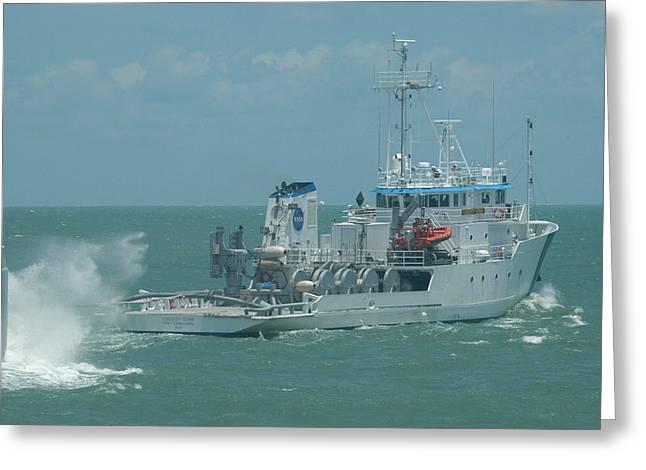 Nasa Ship Liberty Star Greeting Card by Bradford Martin