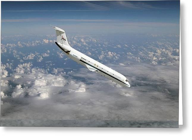 Nasa's C-9 Zero-gravity Aeroplane Greeting Card