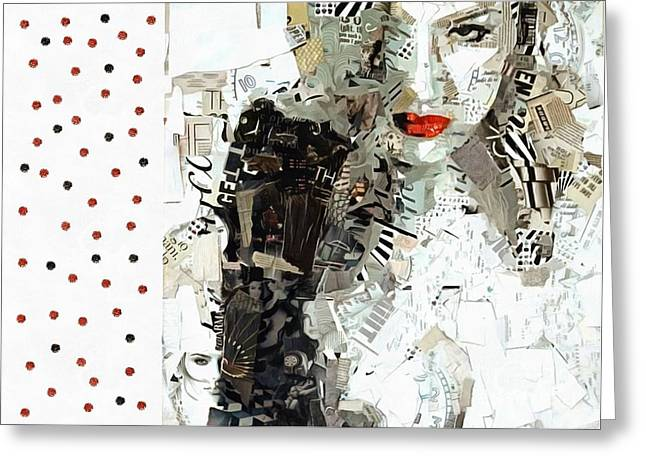 Nasdaq Lookin At You Greeting Card by Catherine Lott