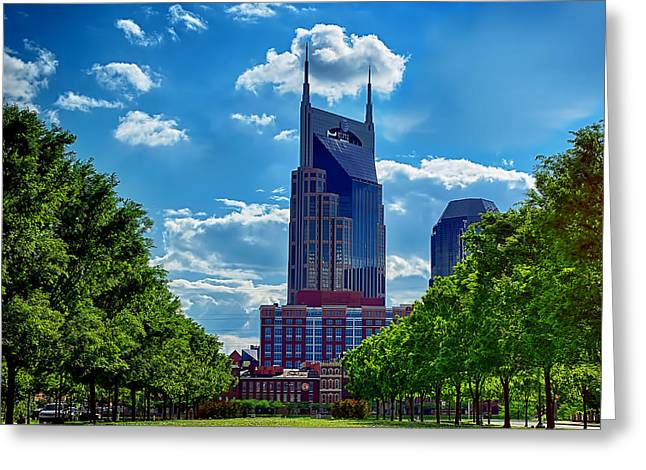 Nashville Batman Building Landscape Greeting Card by Dan Holland