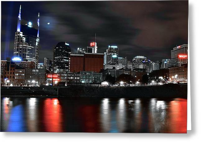 Nashville Dark Knight Greeting Card by Frozen in Time Fine Art Photography