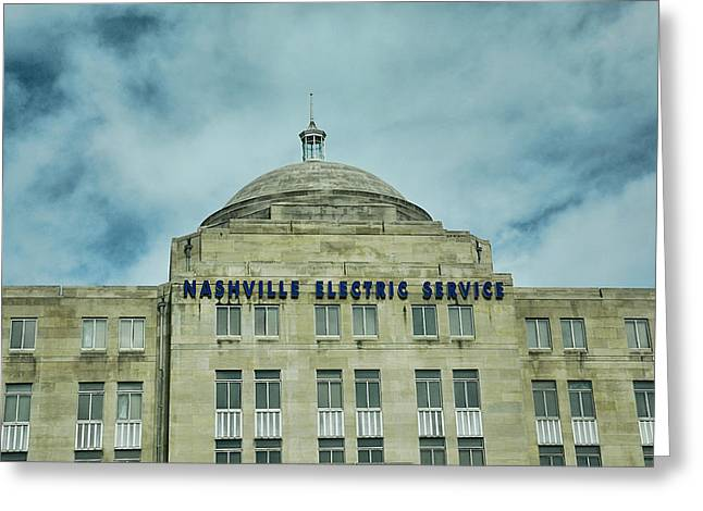 Nashville Electric Service Building Greeting Card by Jai Johnson