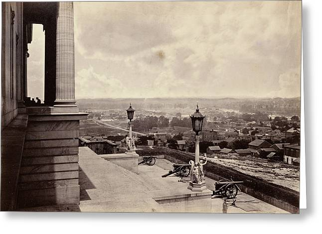 Nashville From The Capitol George N. Barnard Greeting Card