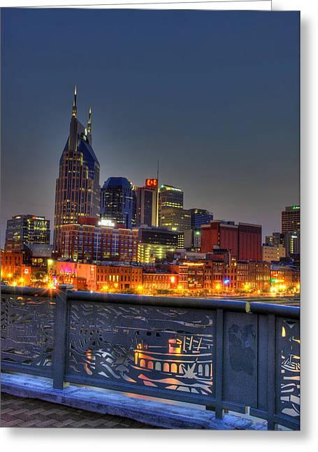 Nashville Glow Greeting Card by Zachary Cox