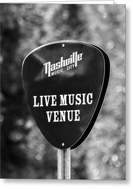 Nashville Music City Sign Greeting Card