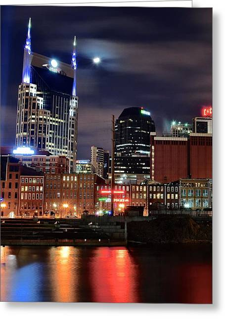 Nashville Nights Greeting Card by Frozen in Time Fine Art Photography