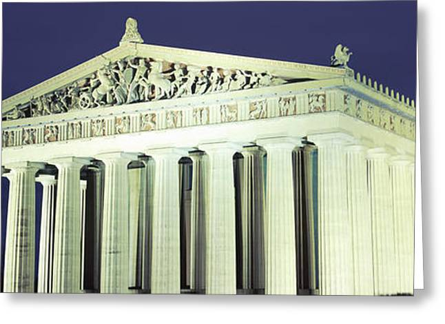 Nashville Parthenon At Night Greeting Card by Panoramic Images