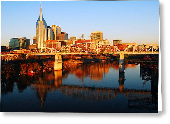 Greeting Card featuring the photograph Nashville Skyline by James Kirkikis
