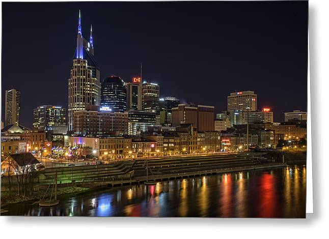 Nashville Skyline Greeting Card by Rick Berk
