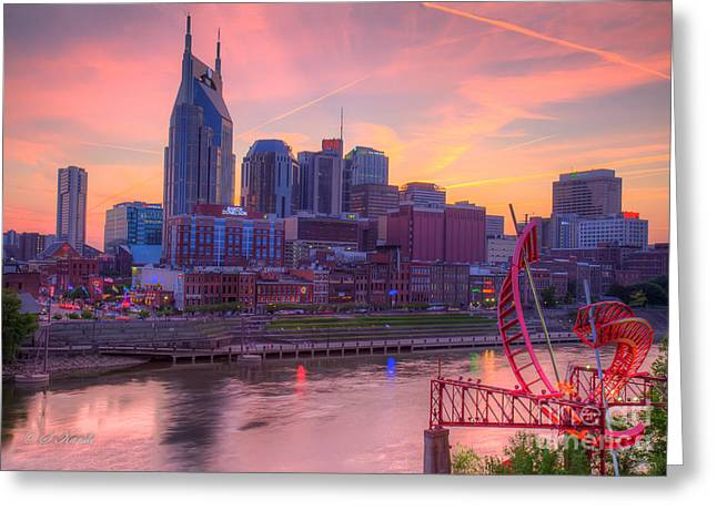 Nashville Sunset Greeting Card