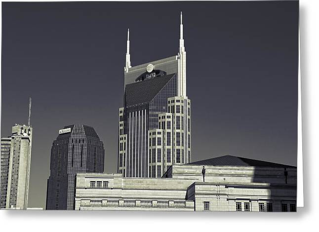 Nashville Tennessee Batman Building Greeting Card