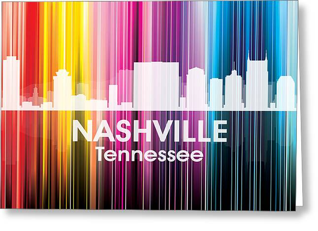 Nashville Tn 2 Greeting Card by Angelina Vick