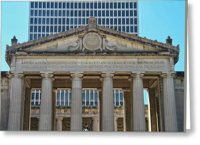 Nashville War Memorial Auditorium Greeting Card by Dan Sproul