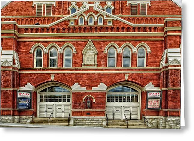 Nashville's Historic Ryman Auditorium Greeting Card by Mountain Dreams
