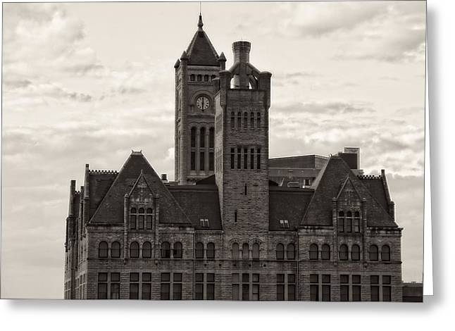 Nashville's Union Station Greeting Card by Dan Sproul