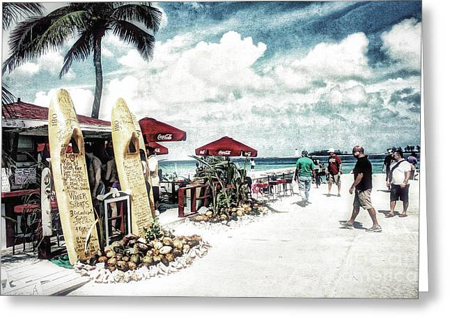 Greeting Card featuring the photograph Nassau Beach by Gina Cormier